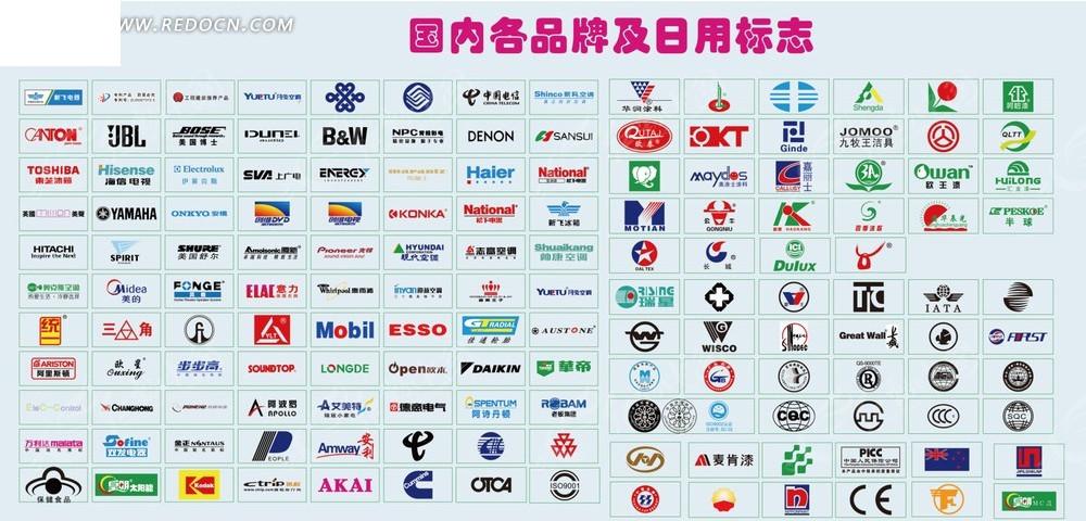 国内各品牌图标大全