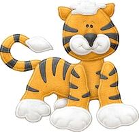 布艺贴布卡通可爱老虎