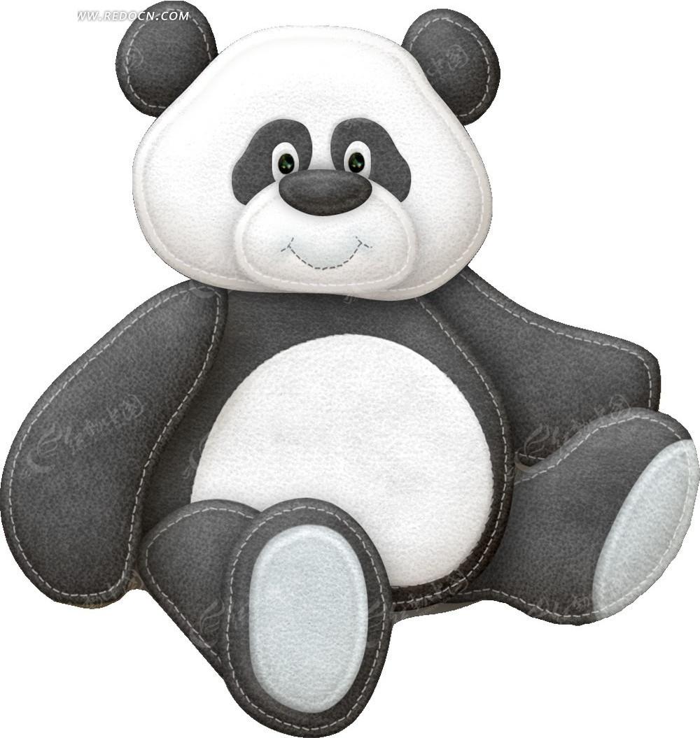 免费素材 psd素材 psd分层素材 动物 布艺贴布卡通可爱胖熊猫  请您