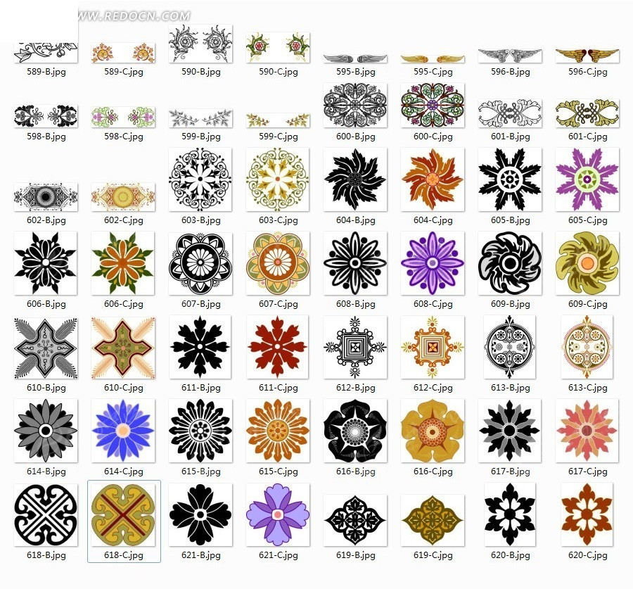 中式古典纹样图片图片