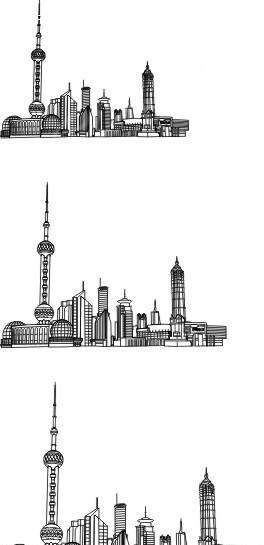 著名建筑物线稿