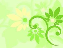 绿色简单花纹