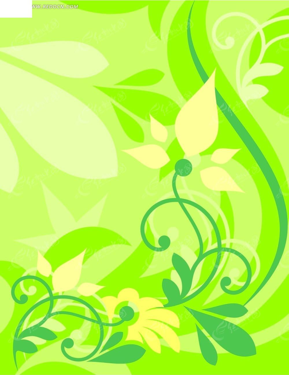 绿色青春花卉素材