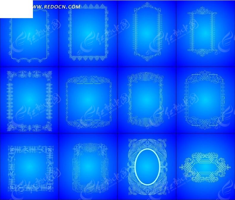 蓝色欧式背景素材