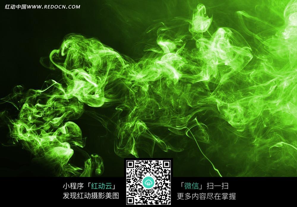 翠绿色梦幻烟雾素材图片