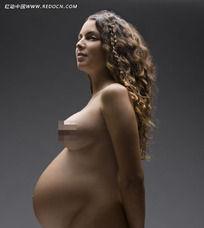 孕妇人物孕味写真侧面