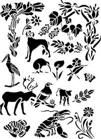 动植物底图素材