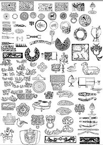 各种古代线纹图腾