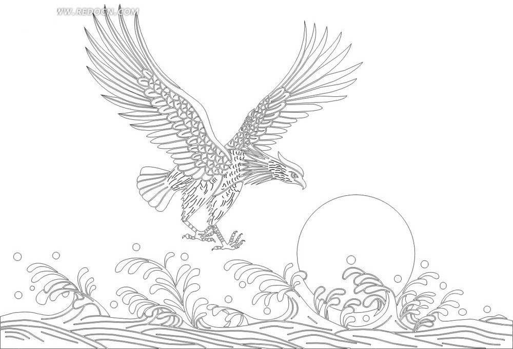 欧式刺绣白描图