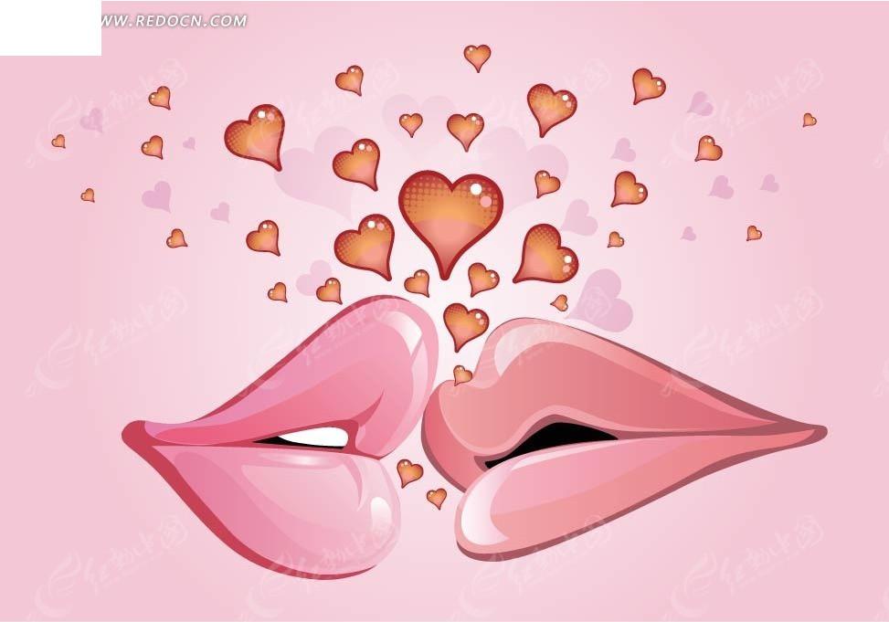 嘴唇卡通图片可爱