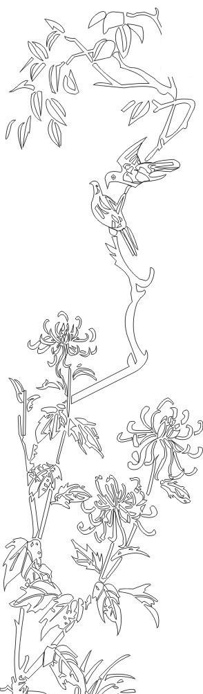 树枝上的小鸟简笔画