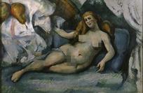 油画躺在床上裸体女人
