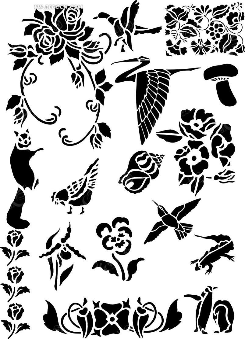动物图案设计图片-植物图案设计,动物图案手抄报图片,黑白图案图片