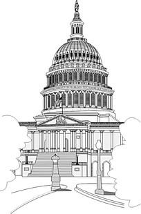 鼠绘欧美著名建筑白宫