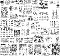 藏传佛教花纹吉祥图案素材