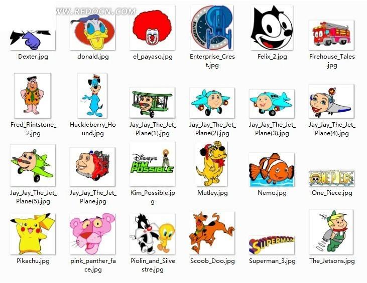 各种卡通动物形象cdr