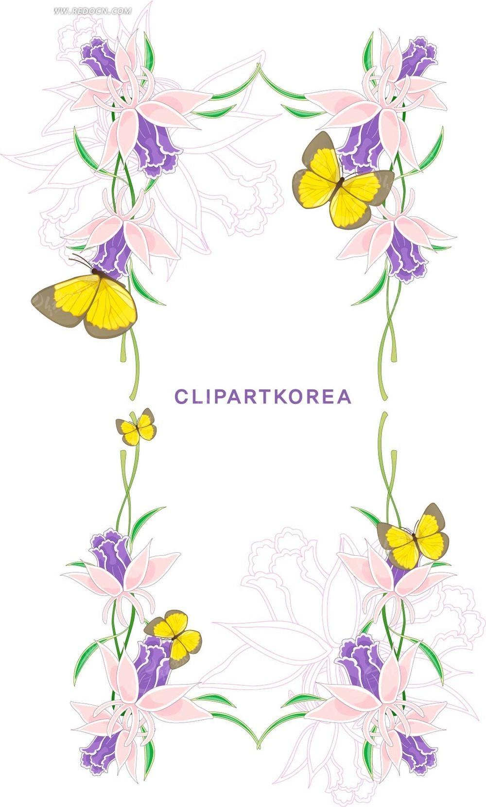 花卉素材矢量图