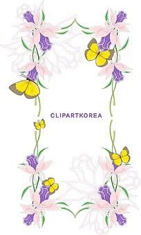 蝴蝶花卉素材