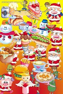 卡通圣诞老人造型