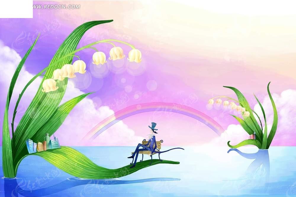 免费素材 psd素材 psd分层素材 卡通人物 卡通王子梦幻童话背景psd