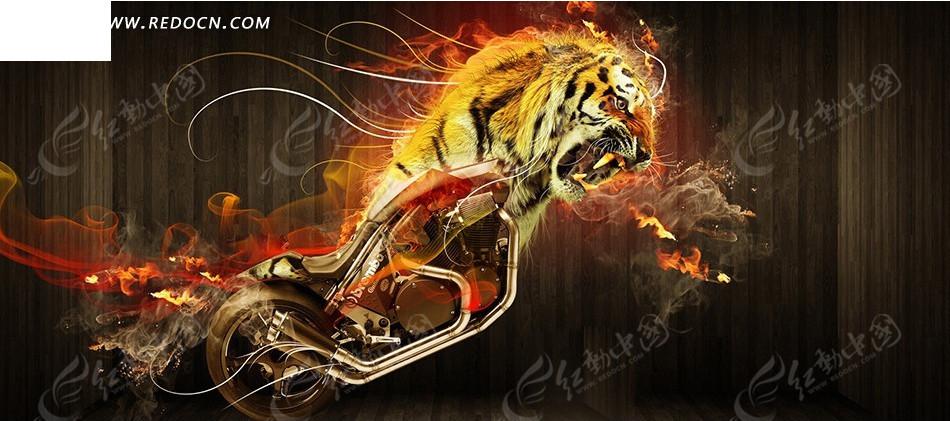 老虎创意壁纸设计图片