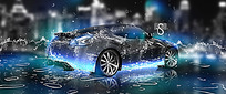梦幻跑车创意海报设计