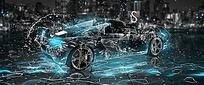 跑车创意海报设计
