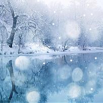 唯美雪景画面图