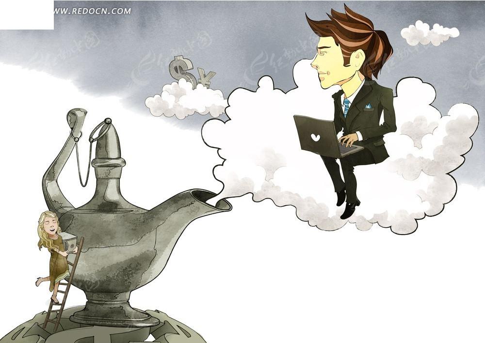 商务金融茶壶素材图片图片