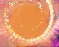 橙色扩散几何变形动画