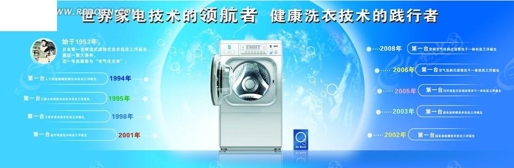 三洋变频洗衣机广告展板