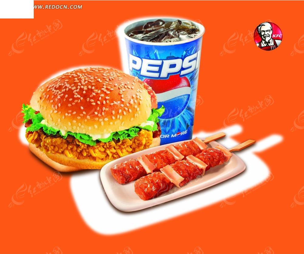 肯德基套餐宣传海报