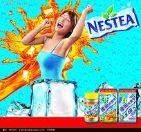 雀巢冰爽茶宣传海报