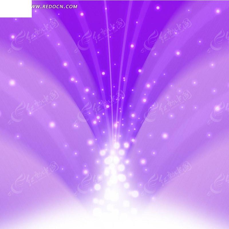 紫色渐变光点射线淘宝主图背景