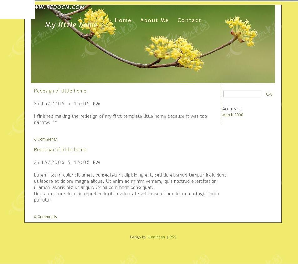 英文色情网_黄色背景英文博客网站源码