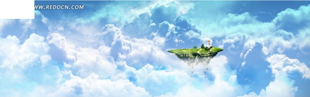 云海和悬空岛淘宝店招背景jpg素材免费下载_红动网图片