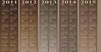 2011至2015年古典日历