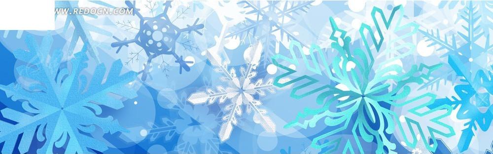 蓝色花朵图案淘宝店招背景jpg素材免费下载_红动网图片