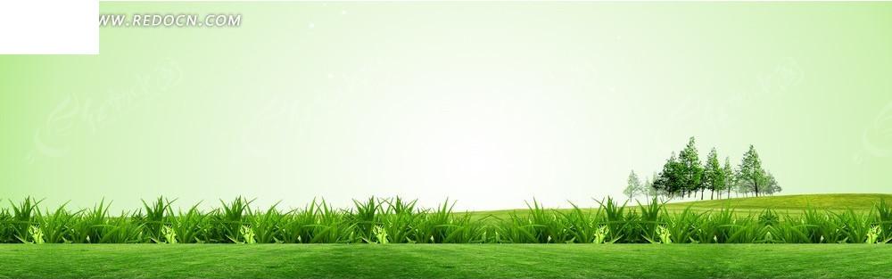 绿色的青草地淘宝店招背景jpg素材免费下载_红动网