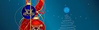 圣诞节装饰图案淘宝店招背景