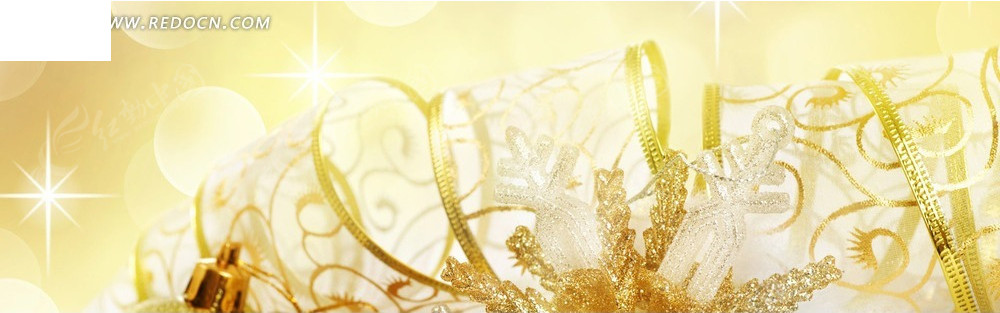丝带饰品和光晕图案淘宝店招背景jpg素材免费下载_红图片