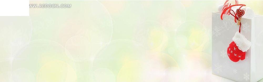 白色纸袋和手套淘宝店招背景jpg素材免费下载_红动网图片