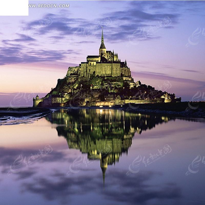 海边的欧式城堡淘宝主图背景