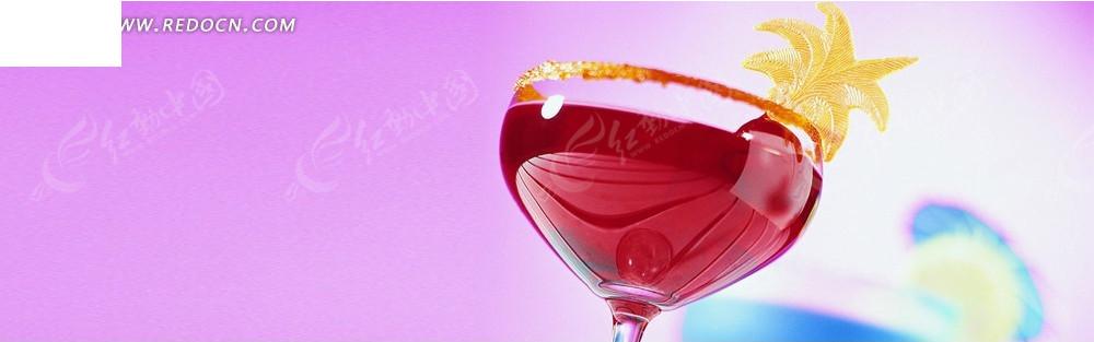 红酒和玻璃杯淘宝店招背景图片