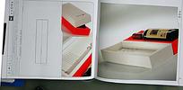 红酒红白包装盒设计素材