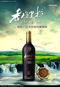 香格里拉葡萄酒宣传海报