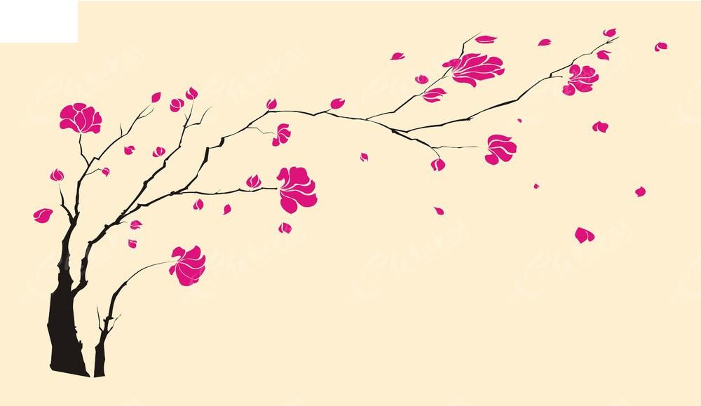 梅花手绘背景素材矢量图cdr免费下载