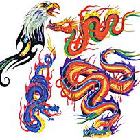 龙纹印花图案