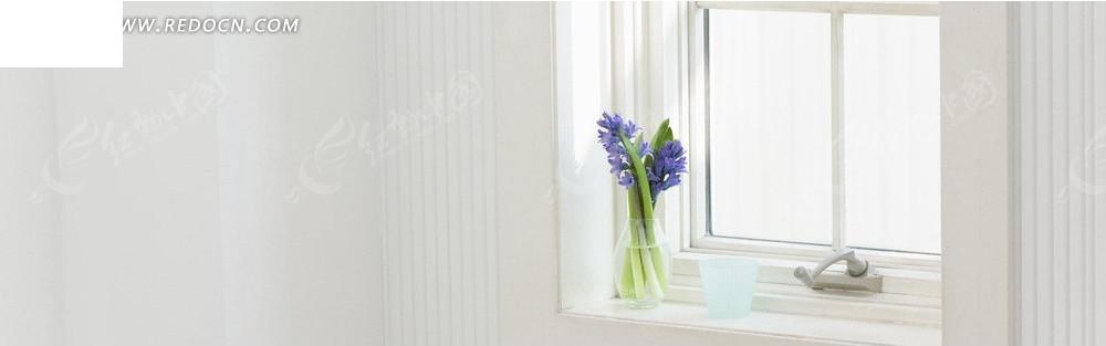 窗台上的花瓶淘宝店招背景jpg素材免费下载_红动网图片