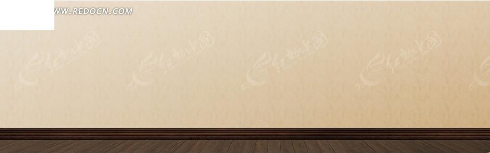 墙壁和木地板淘宝店招背景